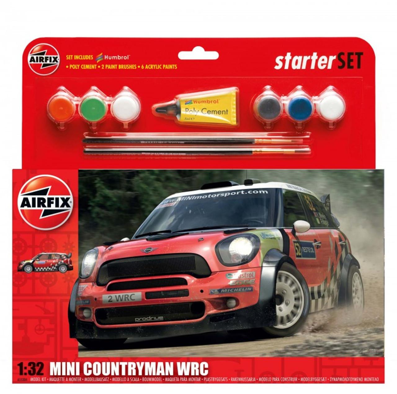 Airfix A55304 MINI Countryman WRC Starter Set 1:32 Scale Model Kit