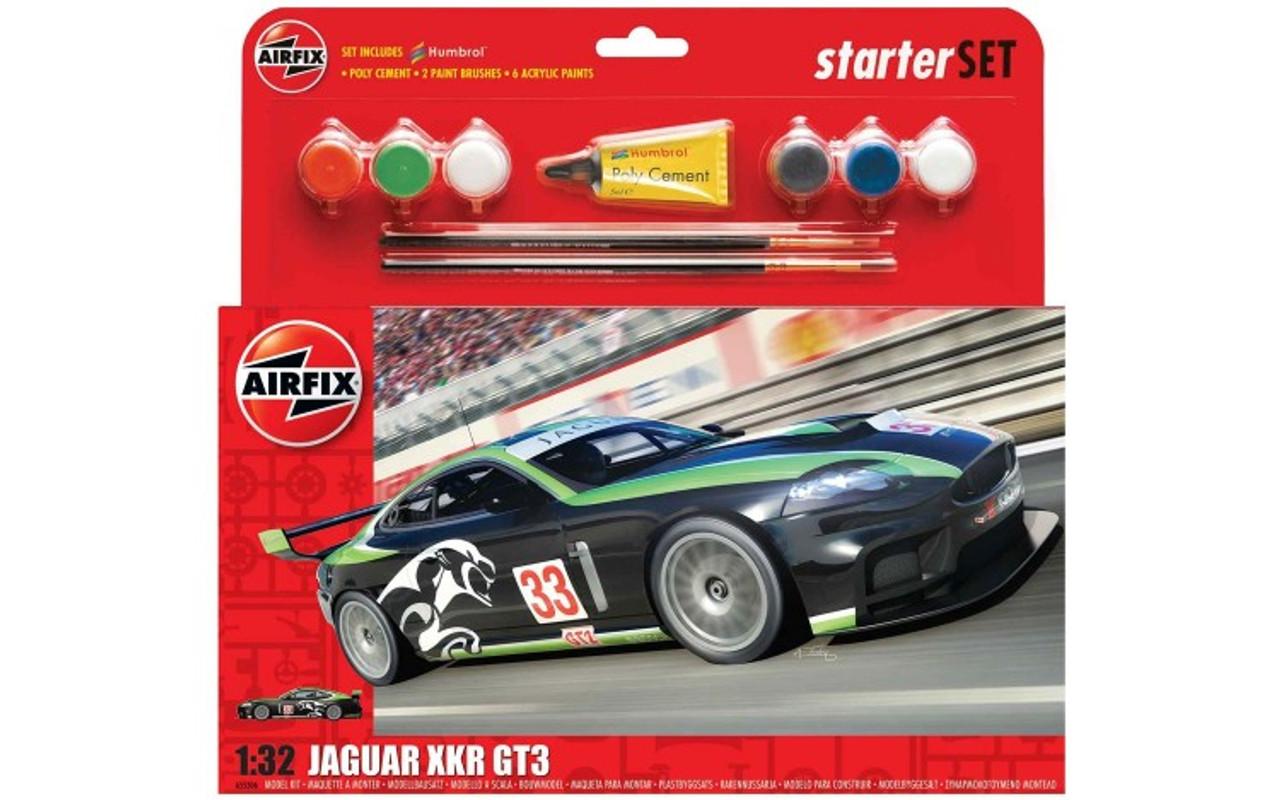 Airfix A55306 Jaguar XKRGT Starter Set 1:32 Scale Model Kit