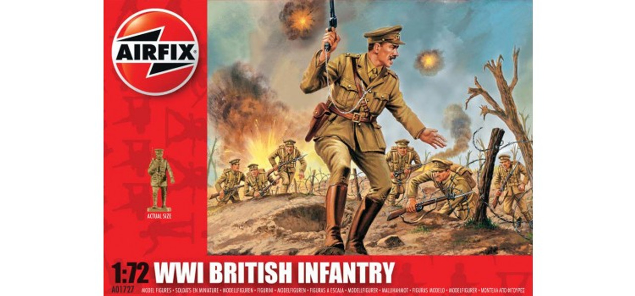 Airfix A01727 WWI British Infantry 1:72 Scale Model Figures
