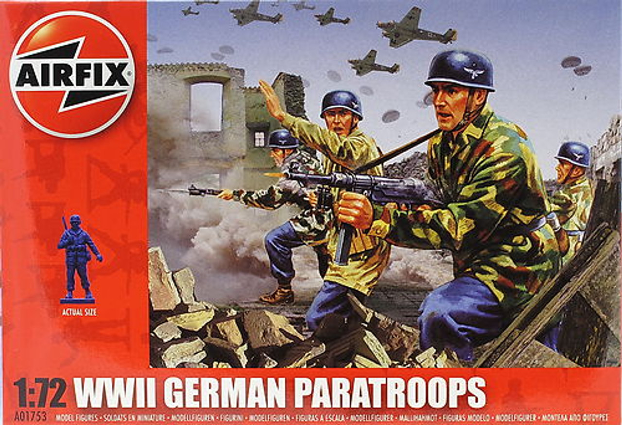 Airfix A01753 WWII German Paratroops 1:72 Scale Model Figures