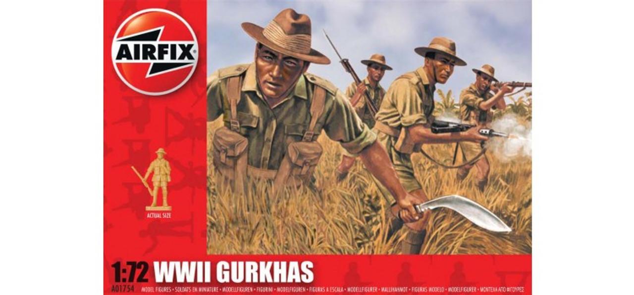 Airfix A01754 WWII Gurkhas 1:72 Scale Model Figures