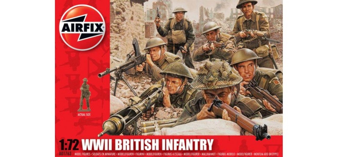 Airfix A01763 WWII British Infantry 1:72 Scale Model Figures