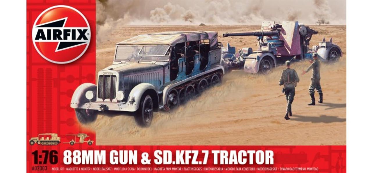 Airfix A02303 88mm Gun & Sd Kfz7 Tractor 1:76 Scale Model Kit
