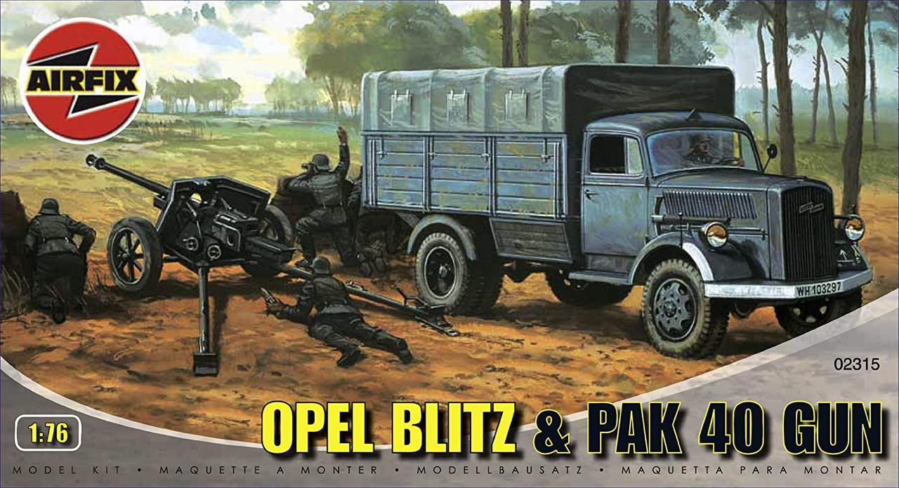 Airfix A02315 Opel Blitz & Pak 40 Gun 1:76 Scale