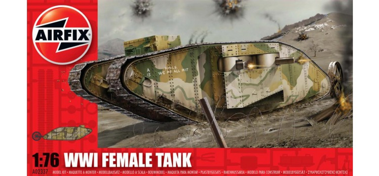 Airfix A02337 WWI 'Female' Tank 1:76 Scale Model Kit