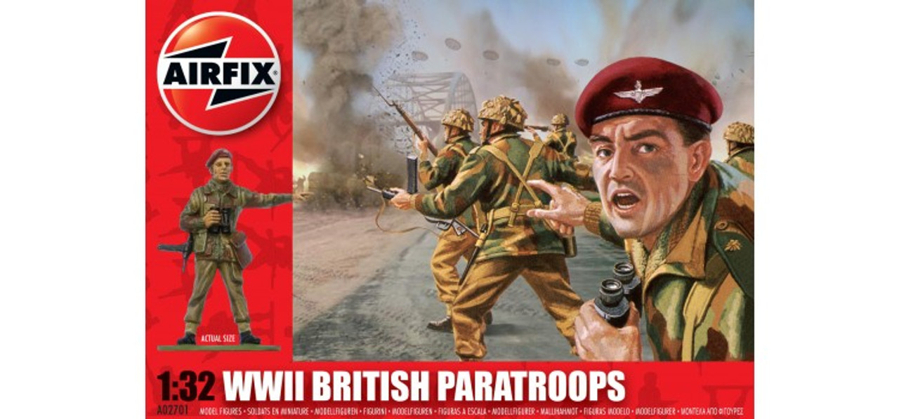 Airfix A02701 WWII British Paratroops 1:32 Scale Model Kit