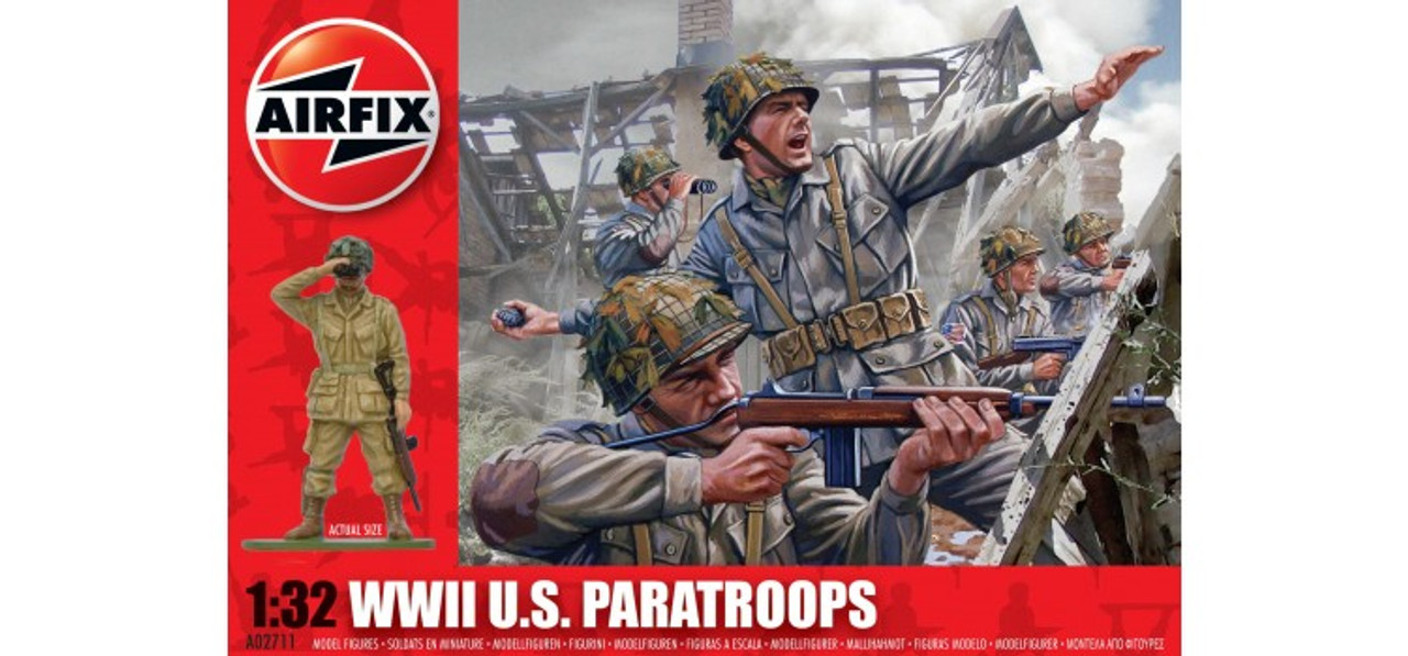 Airfix A02711 WWII U.S. Paratroopers 1:32 Scale Model Kit