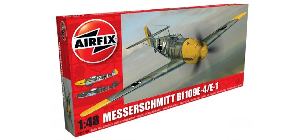 Airfix A05120A Messerschmitt Bf109E-4/E-1 1:48 Scale Model Kit