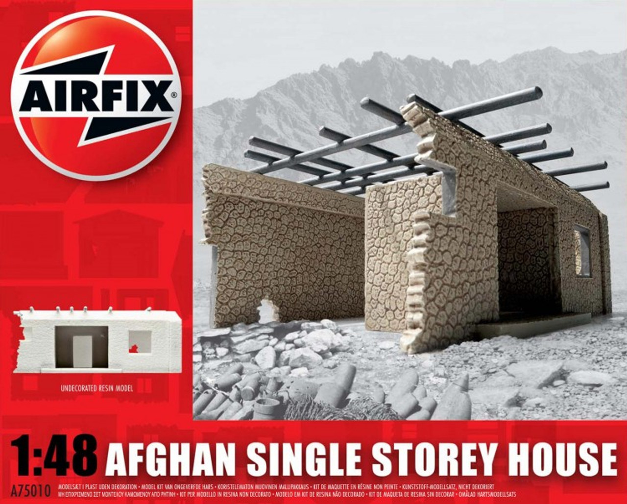 Airfix A75010 Afghan Single Storey House 1:48 Scale Model Kit