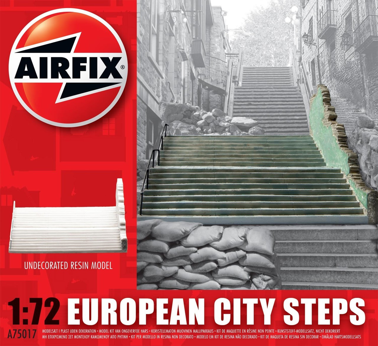 Airfix A75017 European City Steps 1:72 Scale Model Kit