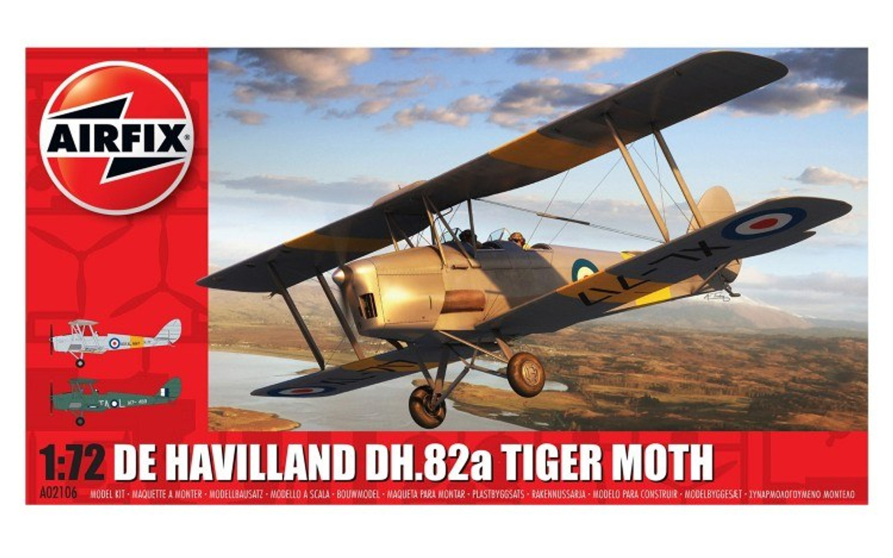 Airfix A02106 De Havilland DH.82a Tiger Moth 1:72 Scale Model Kit