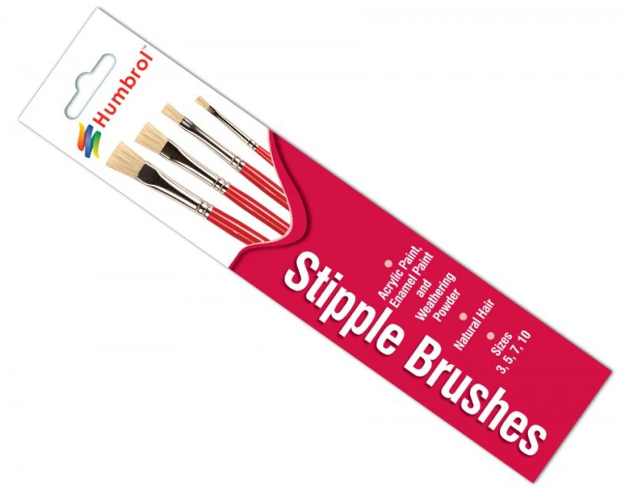 Humbrol AG4303 Stipple Brush Set No:3.5.7.10