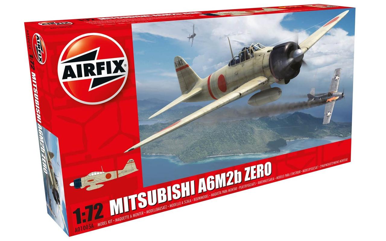 Airfix A01005A Mitsubishi A6M2b Zero 1:72 Scale Model Kit