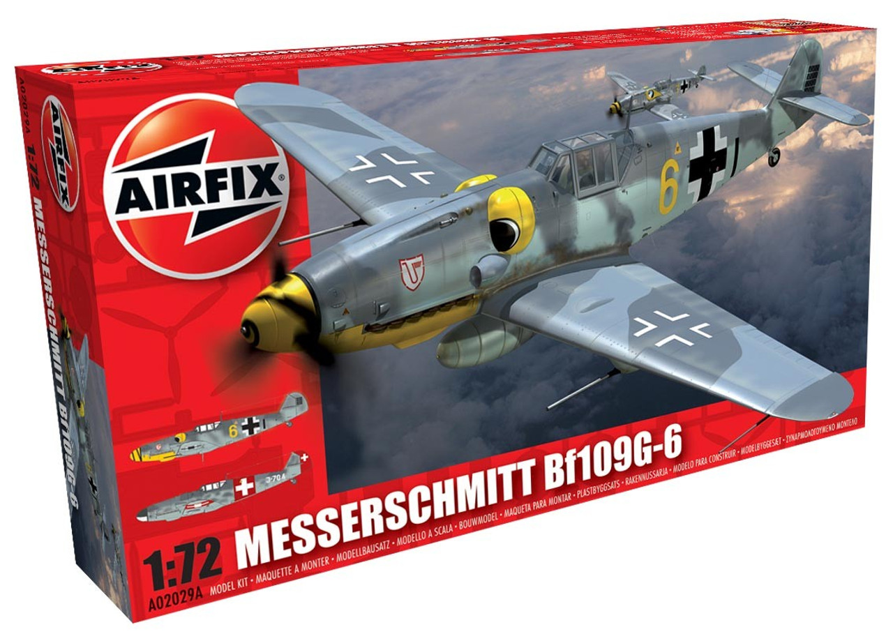 Airfix A02029A Messerschmitt Bf109G-6 1:72 Scale Model Kit