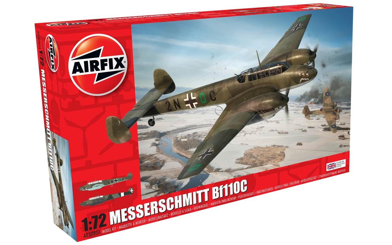 Airfix A03080A Messerschmitt Bf110C/D 1:72 Scale Model Kit