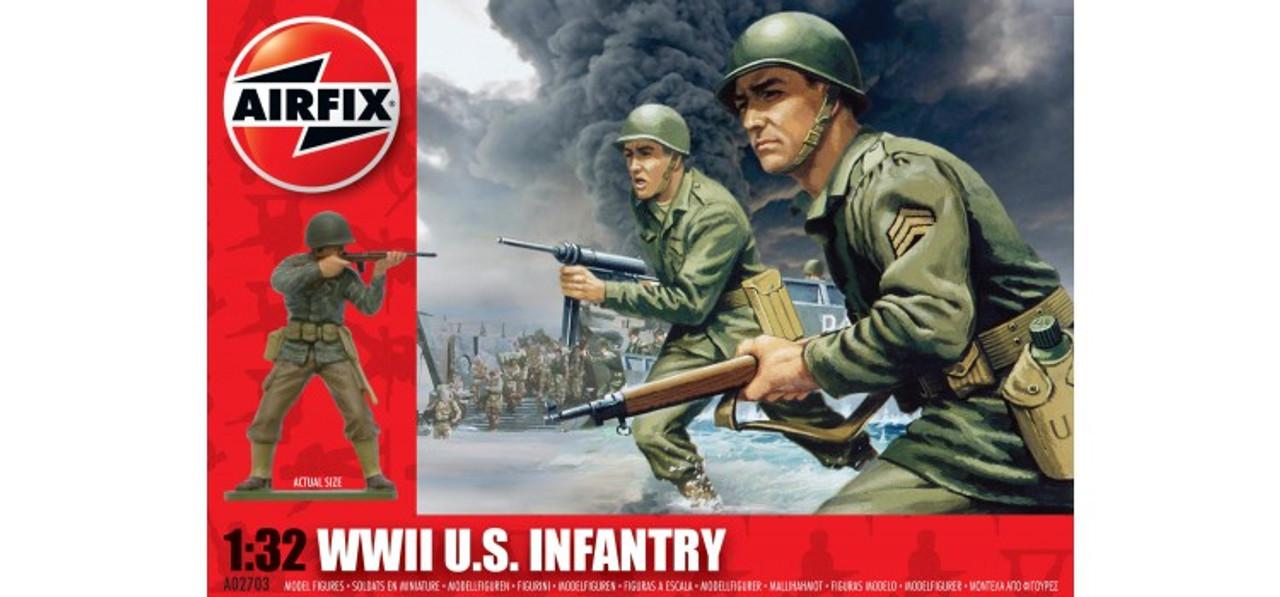 Airfix A02703 WWII U.S. Infantry 1:32 Scale Model Kit