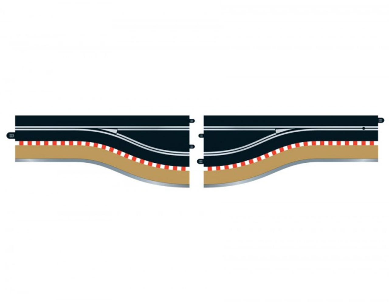 Scalextric C7014 Pitlane Lefthand (2) Slot Car Accessories 1:32