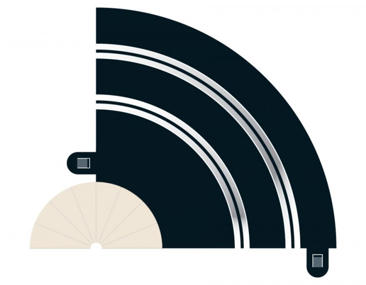 Scalextric C8201 Radius 1 Hairpin Curve 90 degree x 2 Slot Car Track