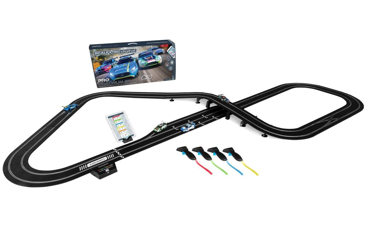 Scalextric C1374F ARC Pro Platinum 1:32 Slot Car Race Ready Set