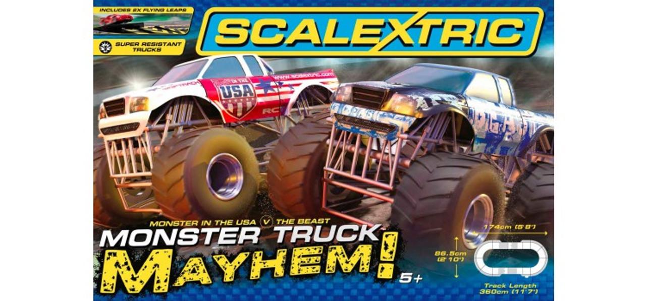 Scalextric C1302 Monster Truck Mayhem Slot Car Race Ready Set