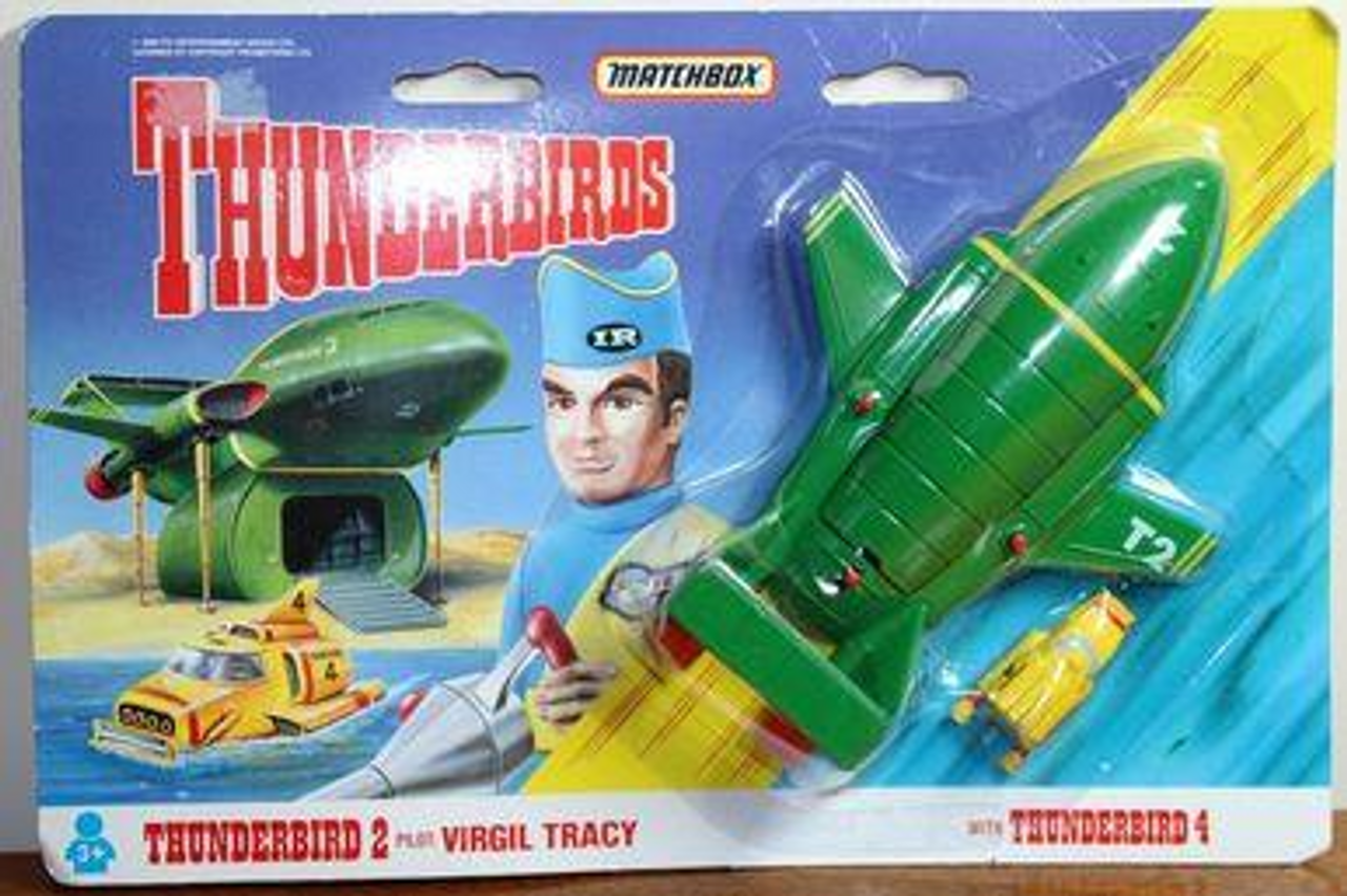 Matchbox TB-002 Thunderbirds 2 Pilot: Virgi Tracy with Thunderbird 4