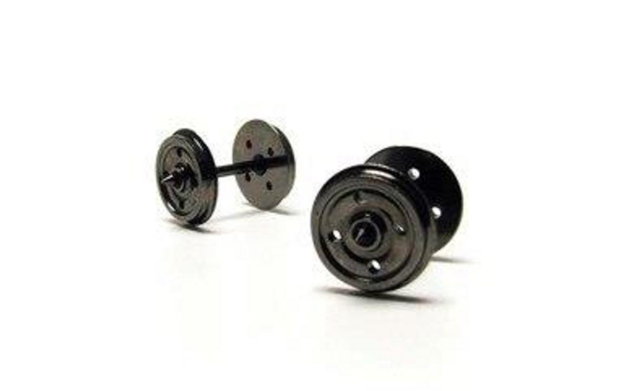 Hornby R8234 14.1mm Diameter Metal 4 Disc Hole Wheel/Axle Set Qty 10 Model Railway Spares