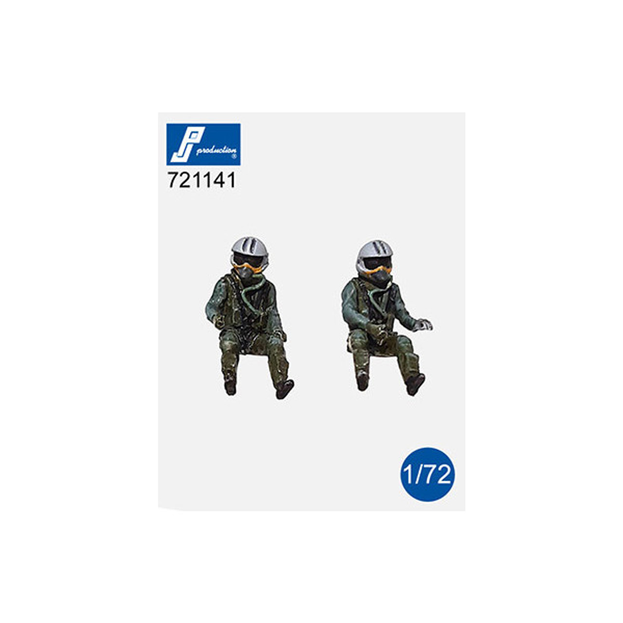 PJ Productions 2x Rafael Pilots Seated in aircraft  Figures 1:72