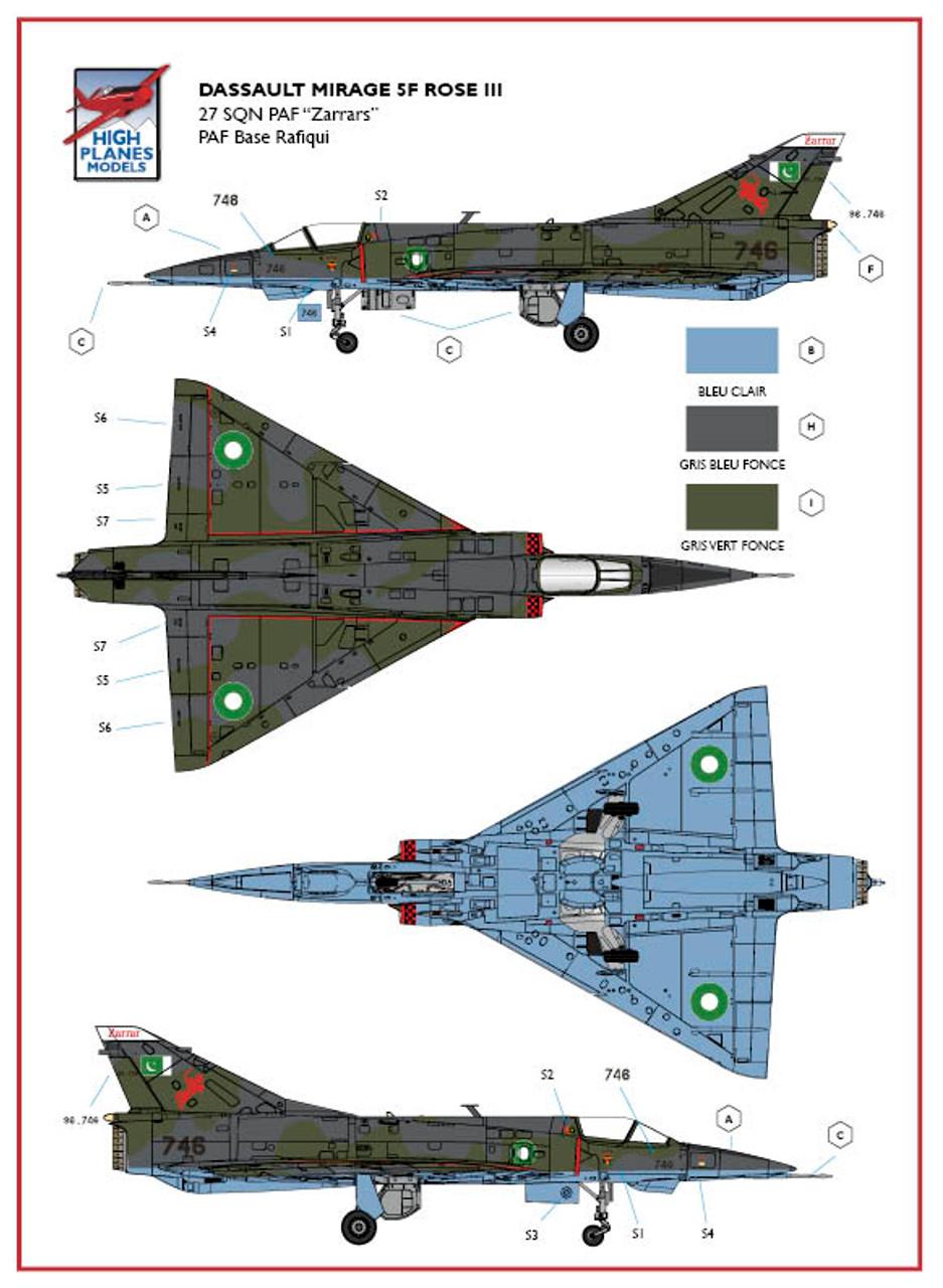 High Planes HPK072114 Dassault Mirage 5F ROSE III