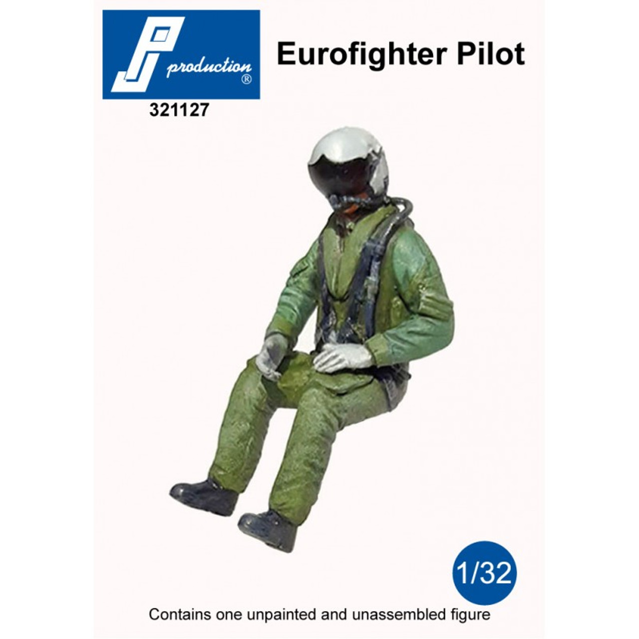 PJ Productions Eurofighter Pilot Seated in Aircraft Figure 1:32 (PJP321127)