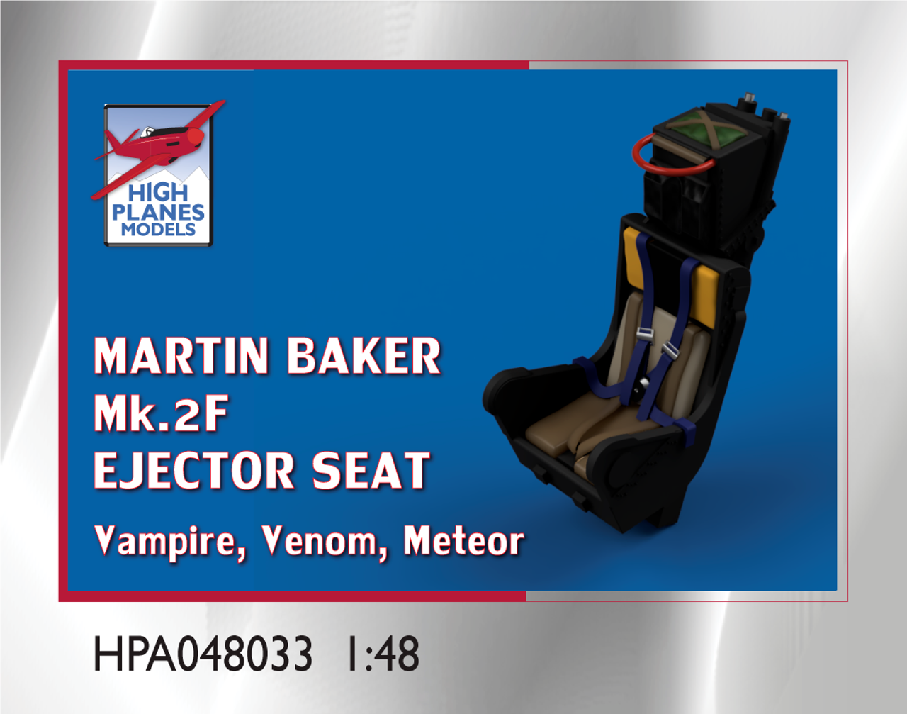 High Planes Martin Baker Mk. 2F Ejector Seat suitable for Vampire, Venom  Accessories 1:48