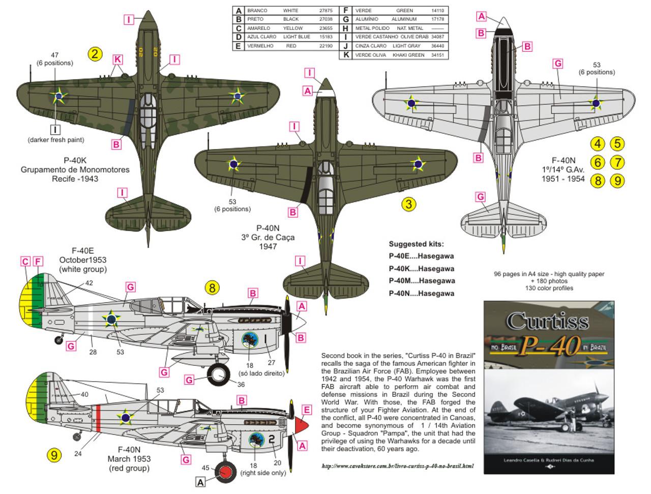 FCM P-40E / K / M e N - FAB Decals 1:32 Scale (FCD032017)