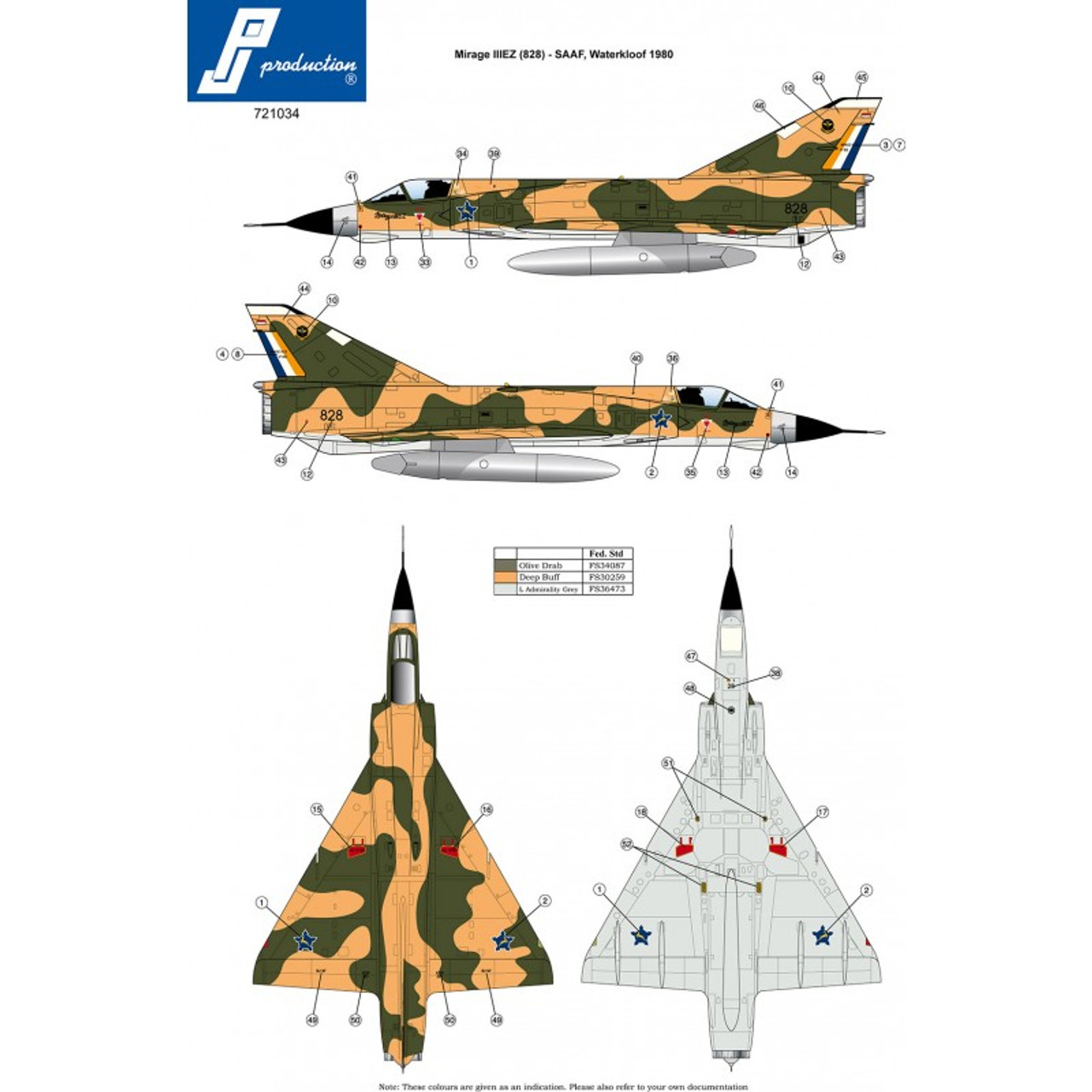 PJ Productions Dassault Mirage IIIEZ Kit 1:72 (PJP721034)