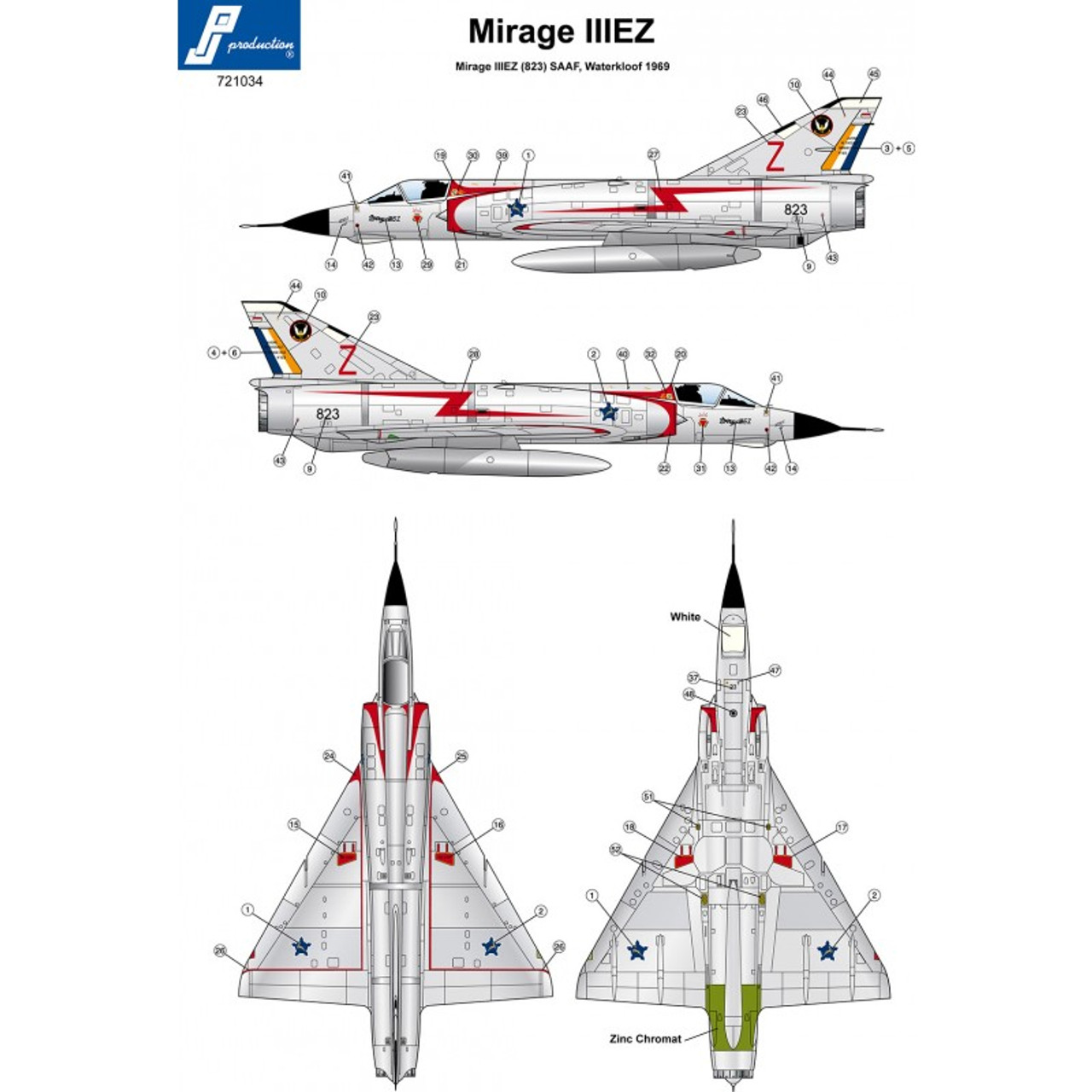 PJ Productions Dassault Mirage IIIEZ Kit 1:72