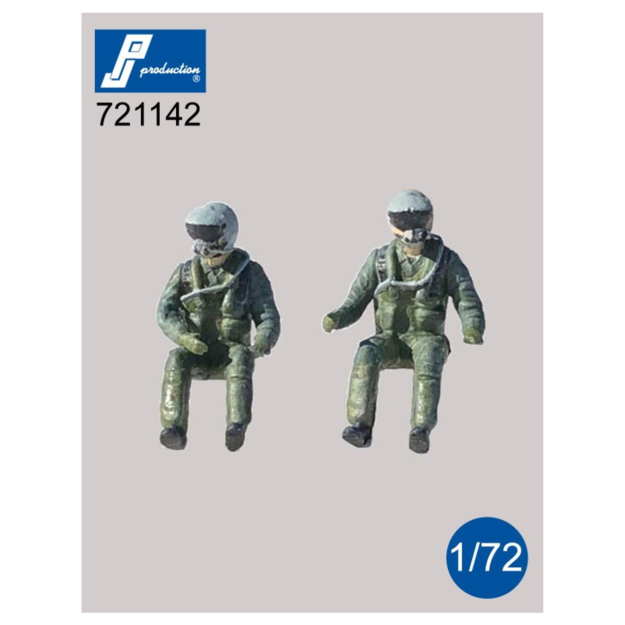 PJ Productions 2x US Pilots with JHMCS Helmet Seated in aircraft Figures 1:72 (PJP721142)
