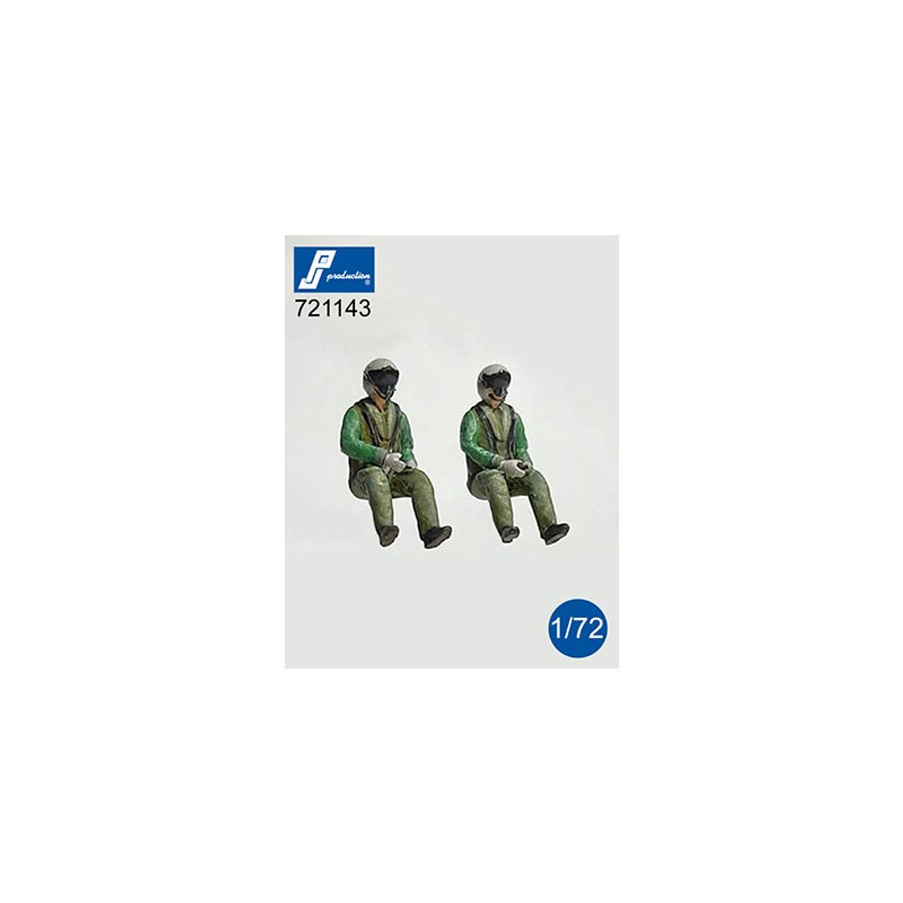 PJ Productions 2x Eurofighter Pilots Seated in aircraft Figures 1:72 (PJP721143)