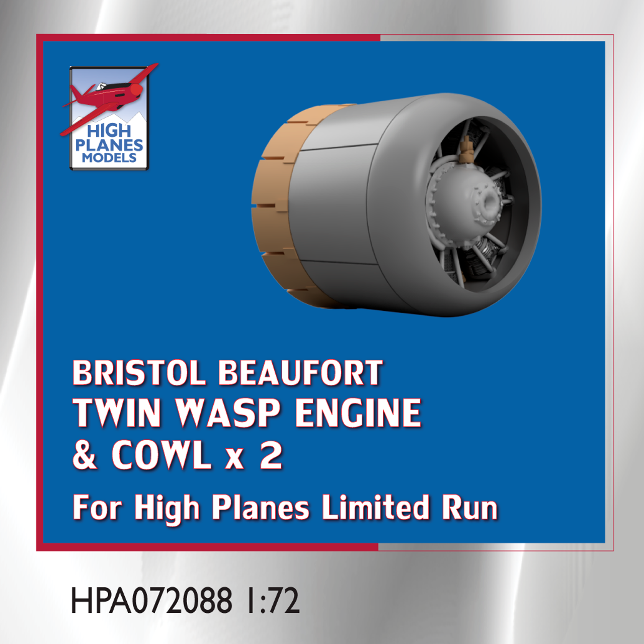 High Planes Bristol Beaufort Twin Wasp Cowl & Engines 1:72 Accessories (HPA072088)