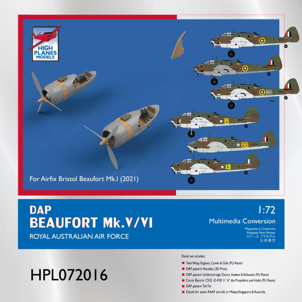 High Planes Plus DAP Beaufort Mk.V/VI Conversion Set Accessories 1:72