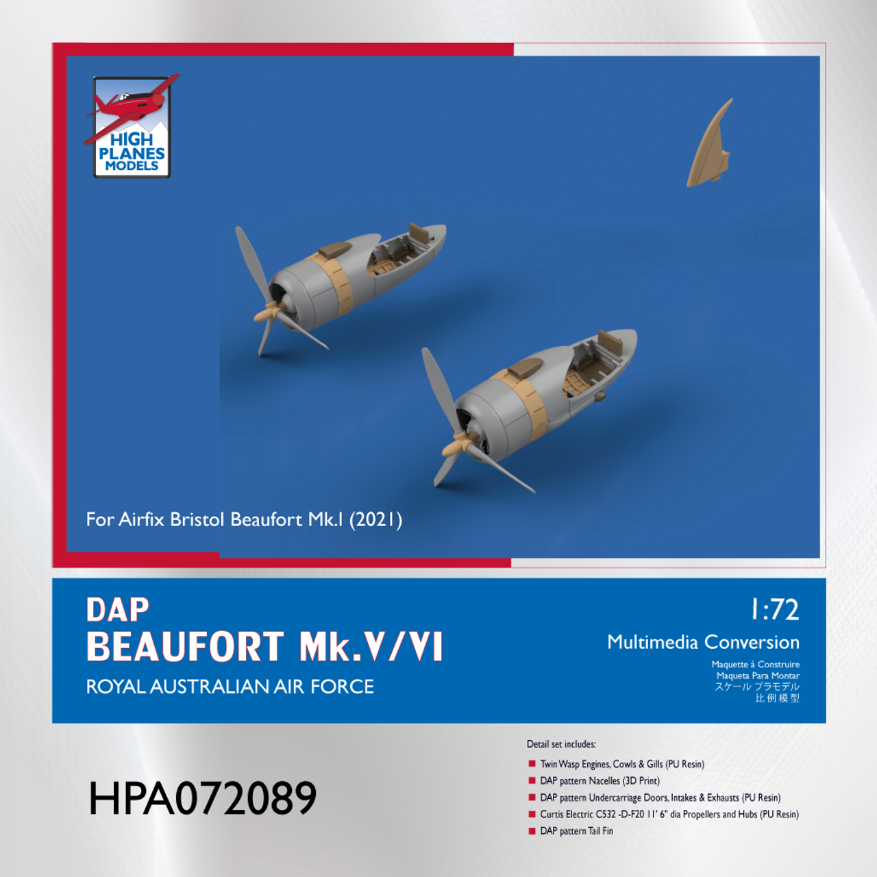 High Planes DAP Beaufort Mk.V/VI Conversion Accessories 1:72 (HPA072089)