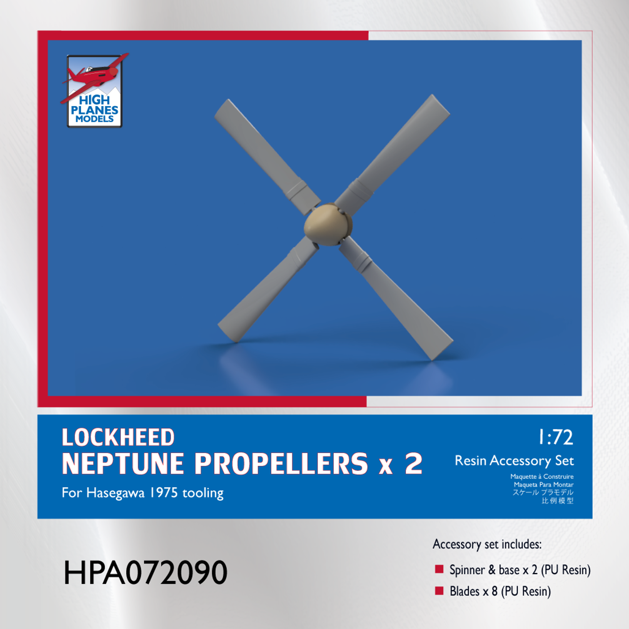 High Planes Lockheed Neptune Propellers x 2 Accessories 1:72 (HPA072090