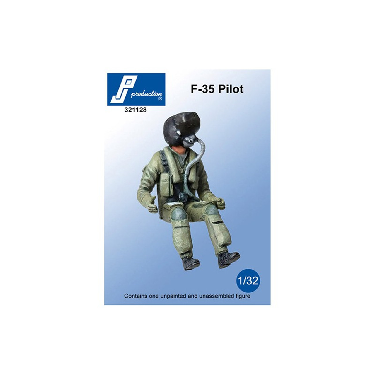 PJ Productions F-35 Pilot seated in aircraft Figure 1:32 (PJP321128)