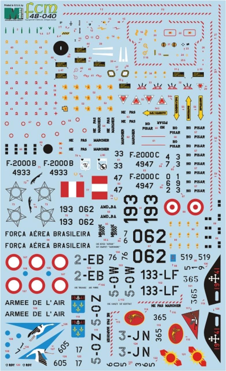 FCM Decals Mirage 2000