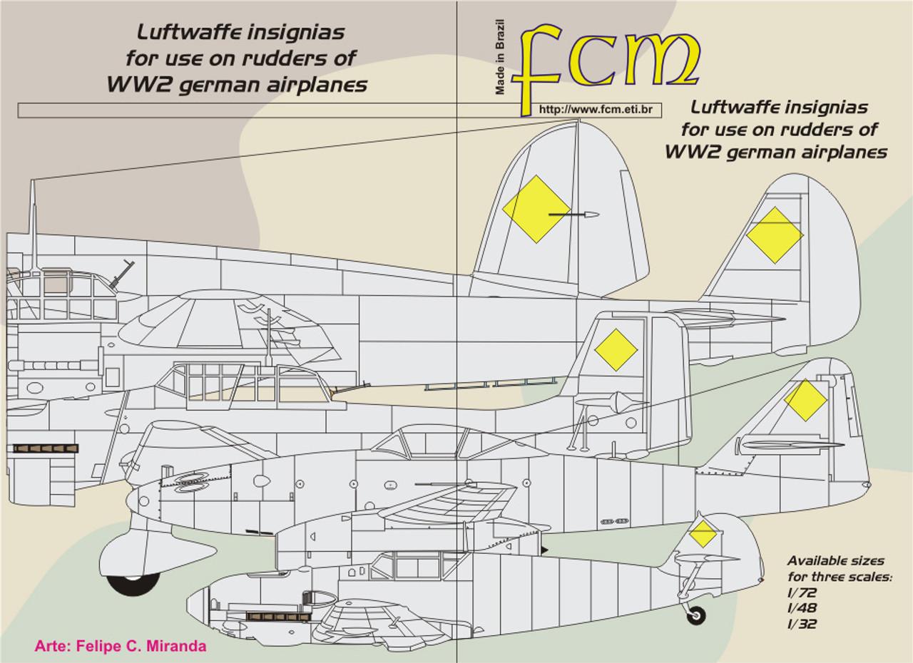 FCM Luftwaffe Swastikas Decals All Scales