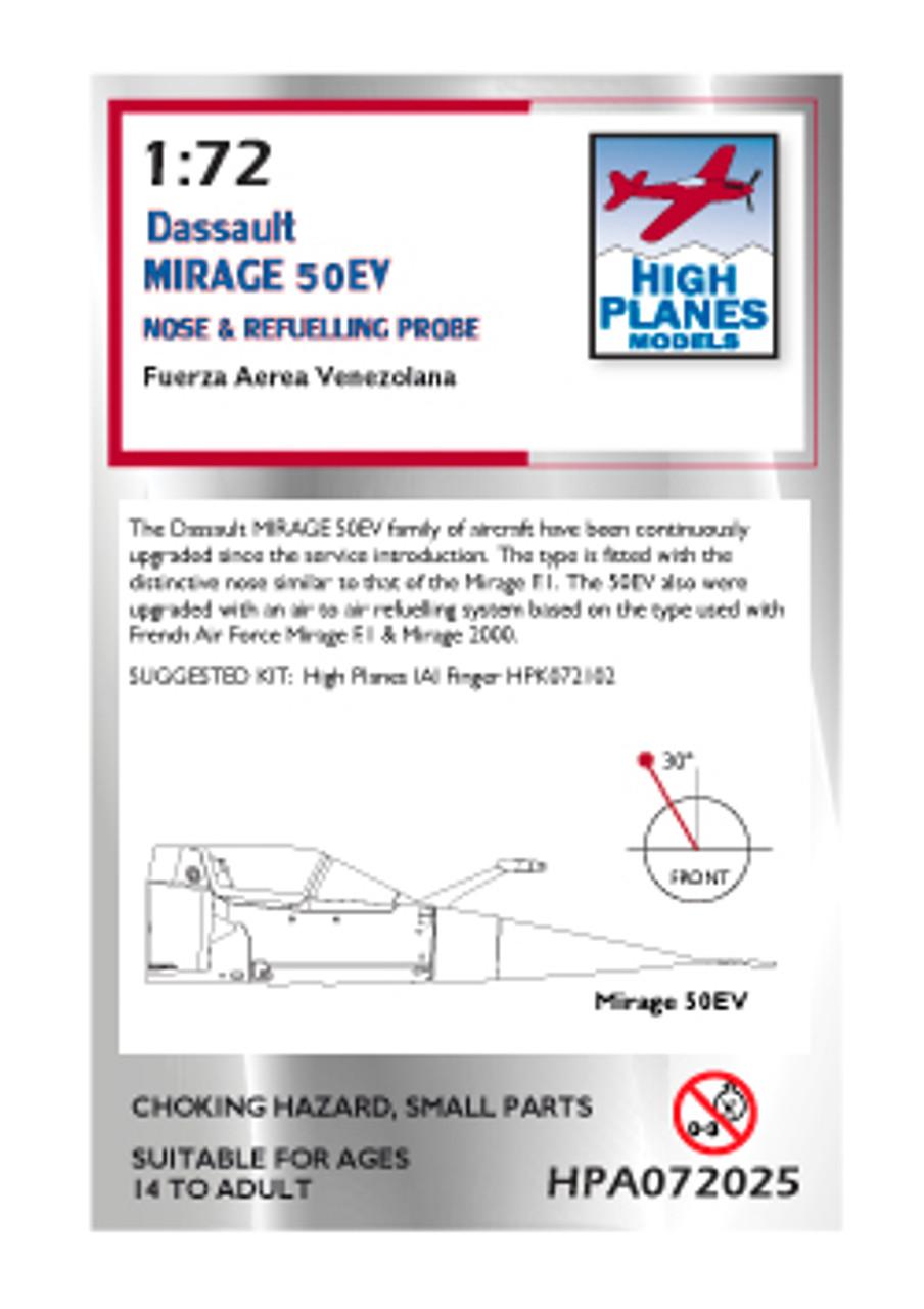 High Planes Mirage 50EV nose
