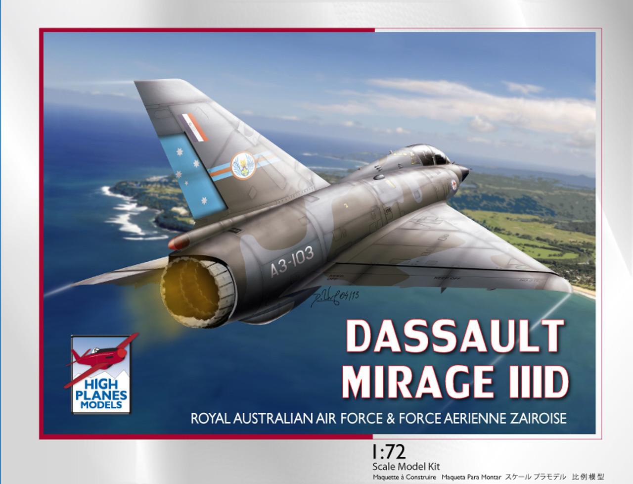 High Planes Dassault Mirage IIID / 5D RAAF & Force Aerienne Zaire Kit 1:72