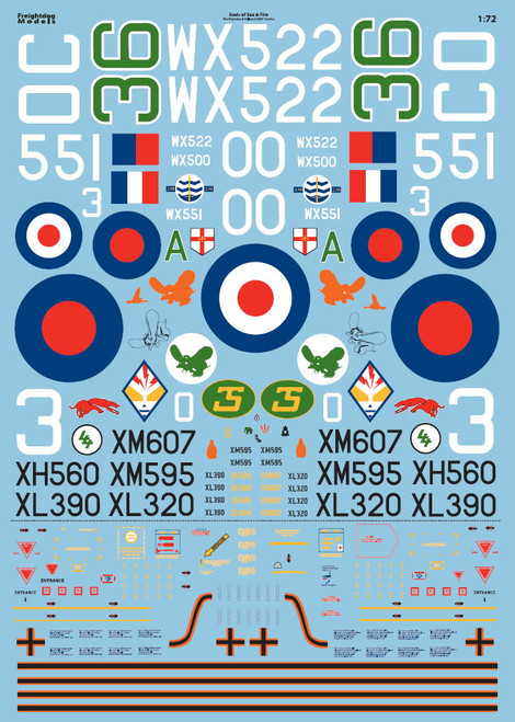 Freightdog 1/72 'Gods of Sea and Fire'  Decals 1:72