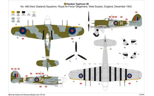 Airfix Hawker Typhoon 1B - Car Door 1:24 Scale Model Kit (A19003)