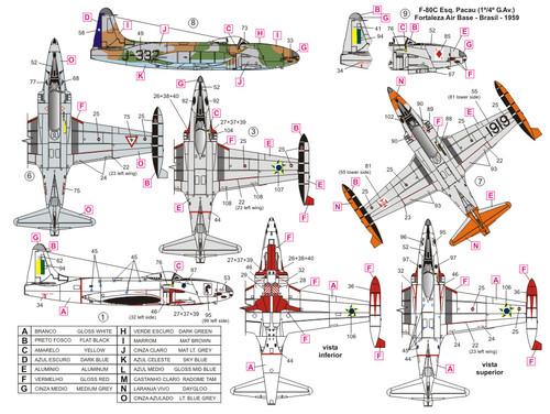 FCM Latin Lockheed F-80 & T-33 Shooting Star Decals 1:72