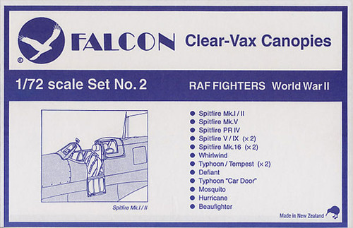 Falcon Clearvax Canopy Set No.41 Spitfire Special Accessories 1:72
