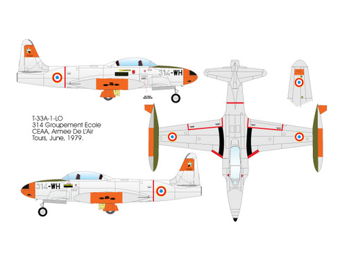 High Planes Lockheed T33 Canada, France, Germany Kit 1:144