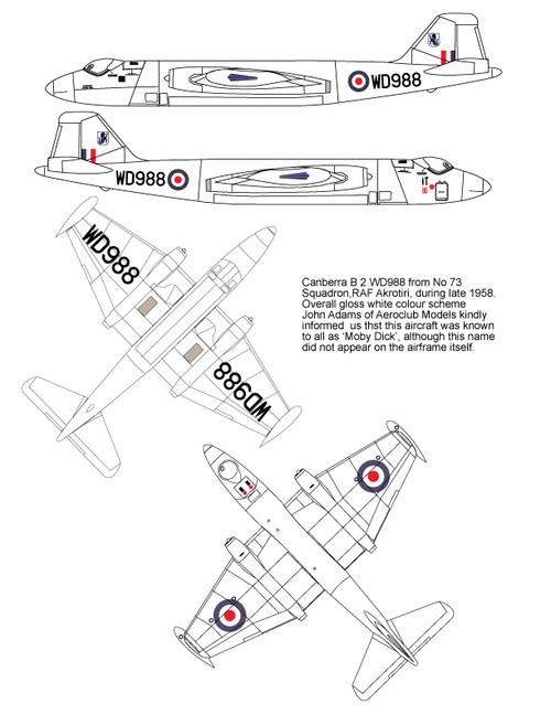 High Planes EE Canberra B2 RAF  Kit 1:144